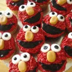 Elmo cakes