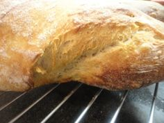 Ciabatta s ražným kváskom (fotorecept) Ciabatta, Bread Recipes, Pizza, Food, Loaf Recipes, Meal, Essen, Hoods, Meals