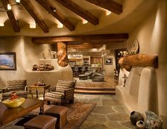 Amazing adobe style living area! Love it all!
