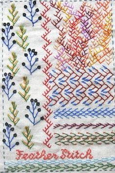 I ❤ embroidery . . . TAST Feather Stitch ~By Maya Matthew  I love embroidery on quilting projects.