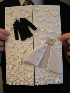 wedding card. I like all the little flowers