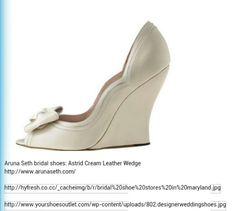 Bridal shoes! aruna Seth. wedges.
