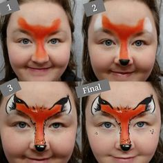 Fast fox face paint design nadine s dreams face painting photo gallery