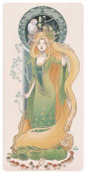Eldaein the sorceress by blackBanshee80