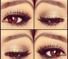 Perfect simple eye makeup for brown eyes.