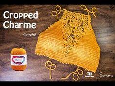 Cropped Crochet Charm Part 2 - Professor Simone - Cropped de Crochê Charme Parte 2 - Professora Simone - Beauty Tips and Tricks Crochet Summer Tops, Crochet Crop Top, Crochet Blouse, Crochet Bikini, Knit Crochet, Bikini Dress, Crop Top Bikini, Halter Crop Top, Baby Girl Crochet