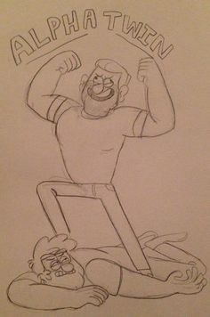 (2) Tumblr Gravity Falls Fanart by unknown ALPHA TWIN!! ALPHA TWIN!!!