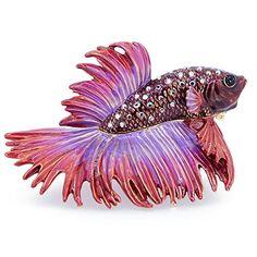 Red Purple Crowntail Betta Fish Trinket Box Rucinni https://www.amazon.com/dp/B015TJN0JO/ref=cm_sw_r_pi_dp_x_ef6OxbP6B5QTM