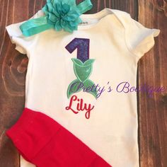 Mermaid Birthday outfit available for ages 1-10