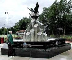 The Phoenix Peace Fountain, in Anderson Park Coleraine, Co Londonderry, Northern Ireland. A gift from the USA, & unveiled on July 4th 2002.
