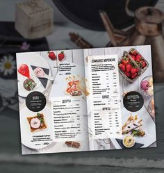 Photo & design for restaurant menu cafe Delmar. Still life for menu, photo shooting and layout design. Menu Restaurant Design, Carta Restaurant, Hotel Menu, Cafe Menu Design, Menu Card Design, Food Menu Design, Layout Design, Speisenkarten Designs, Cafeteria Menu