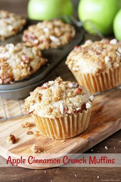 Apple Cinnamon Crunch Muffins - A quick and easy muffin that just tastes like fall!