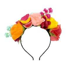 This tropical flower crown is a cool, statement accessory for the bride on her hen. Perfect for a summery or festival hen party. Seriously trendy vibes.