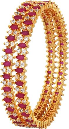 Gold Plated Ruby Bangles buy online