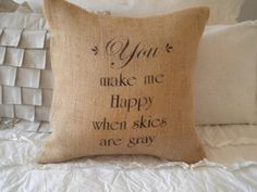 """""""You make me happy when skies are gray"""" Perfect for my gray living room...and because Alex always sings this song! :)"""