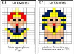 pixel moi Pixel Art Minecraft, Pix Art, Math School, Bible Activities, 1st Day, 3 Arts, Art Plastique, Mosaic Art, Ancient Egypt