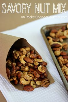 Savory Nut Mix - A Southern Outdoor Cinema movie snack & food idea for backyard movie night.