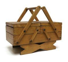 Antique Sewing Box. by LeBonheurDuJour on Etsy, $80.00