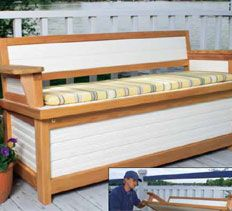 Woodworking Plans & Projects, Storage Projects - Dock Bench Project Plan
