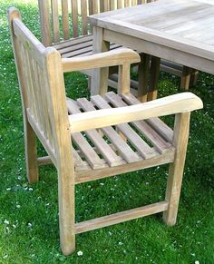 Chairs and Tables - Garden Furniture - Southwold Teak Arm Chair, £109.99 (http://www.chairsandtables.co.uk/southwold-teak-arm-chair/)