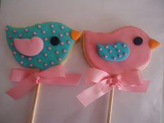 Cookies tema Passarinhos.
