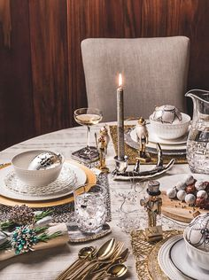 Christmas table decorating ideas: Having a defined colour scheme not only makes the table look extra special but adds a polished look. Classic red, green or gold always adds a traditional look, frosty silver and white looks cool crisp and fresh, while for a more contemporary take the Scandi look teams red and white with natural touches, or this season's most fashionable finish teams rose gold and copper for an indulgent glitzy look. Get more tips at housebeautiful.co.uk