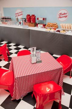 50's party ideas | Retro 50′s Diner