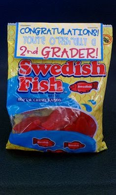 end of the year student gift idea - swedish fish {printable}