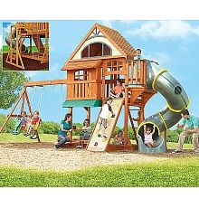 Centennial Swing Set fun-things-for-kids Playhouse Outdoor, Outdoor Toys, Outdoor Fun, Outdoor Ideas, Backyard Play, Play Yard, Backyard Ideas, Kids Clubhouse, Outdoor Play Structures