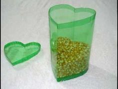 Caja en forma de corazón hecha con botellas de PET - vídeo completo - Trabajos manuales - YouTube