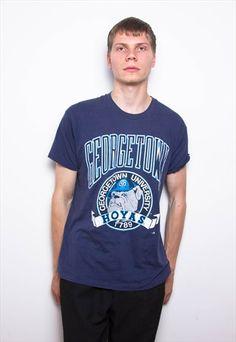 4558b435e5 Vintage 90s Navy Georgetown University Soft T-Shirt