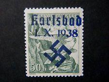 Local Deutsches Reich WW II Sudetenland Occup overpr Karlsbad Mi