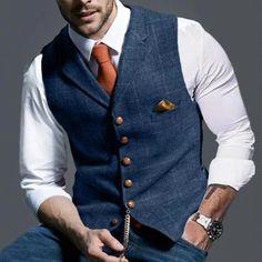 Mens Suit Vest, Mens Suits, Tweed Waistcoat, Checked Suit, Plaid Jacket, Cotton Jacket, British Style, Single Breasted, Tartan
