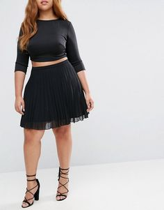 ASOS Curve | ASOS CURVE Pleated Mini Skirt