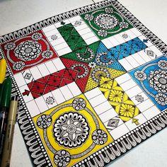#Mandala #Ludo #design Instagram - @sejal.inkit Mandala Artwork, Instagram, Design
