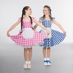 c0676061b027 Cutie Checked Lace Trimmed Dress with Apron - IDS: International Dance  Supplies Ltd