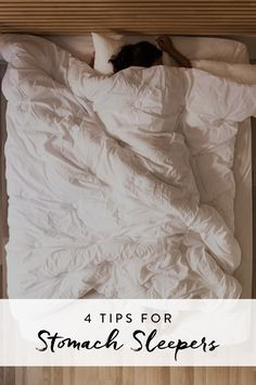 Attention stomach sleepers: While we completely understand the urge to face-plant onto your bed after a long day, you might not want to actually fall asleep this way. Between the neck and back strain it causes and the premature wrinkling from smooshing your cheeks into the pillow, it's highly advisable to train yourself to sleep on your side or back. Here's how to do it.
