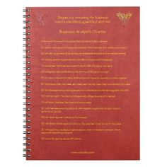 16 golden rules of the Business Analyst Charter Notebook #zazzle HightonRidley