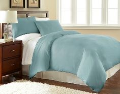 Refresh the look of any bedding with our supremely-soft light blue duvet cover.