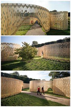 FABRIC's trylletromler pavilion in denmark reinterprets the classical orde