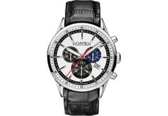 Roamer Mens Quartz Watch Superior Chrono 508837 with Leather Strap Fine Watches, Watches For Men, Mens Watches Online, Cool Things To Buy, Stuff To Buy, Quartz Watch, Chronograph, Black Leather, Man Shop