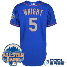 9445ad3a42b New York Mets Authentic David Wright Alternate Road Cool Base Jersey w 2013  All-