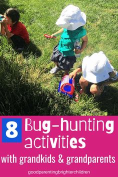 Do your grandkids love bugs and insects? Here are 8 activities to do with grandkids at grandma's house: hunting for bugs, making yarn bugs, sensory sandpile bugs, string-art bugs, making edible bugs in the kitchen, and more. #bugs #insects #grandma #grandparents #grandchildren #activitiesfor #dayactivities #daycrafts #howtobethebest #mykidshavethebest Sensory Activities, Activities For Kids, Nature Activities, Outdoor Activities, Mixed Up Chameleon, Grandparents Day Crafts, Grandkids, Grandchildren