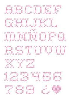 abc punto de cruz Script Alphabet, Alphabet And Numbers, Blackwork Embroidery, Cross Stitch Embroidery, Cross Stitch Letters, Crafty Craft, Pattern Mixing, Cross Stitching, Lettering