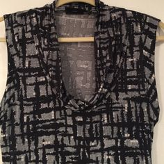 Blouse Sleeveless top with cowl neck. Wear alone or under a blazer. 95% Rayon. New York & Company Tops Blouses
