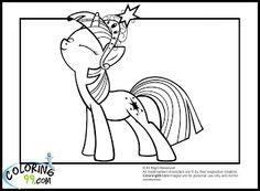 Little Pony Twilight Sparkle Coloring Pages