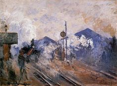 Saint-Lazare Station, Track Coming out - Claude Monet  Completion Date: 1877