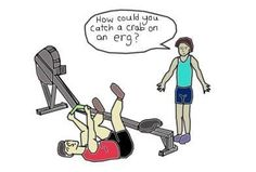 Rowing crab on the erg!