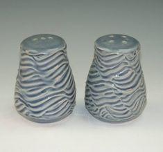 Ben Rigney Small Round Blue Salt & Pepper Shakers