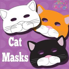 Over 100 Free Printable Masks for Kids - Itsy Bitsy Fun - some to color and some to use for photo booth props Animal Masks For Kids, Mask For Kids, Cat Crafts, Animal Crafts, Printable Animal Masks, Bad Cats, Bad Kitty, Photo Chat, Mask Template